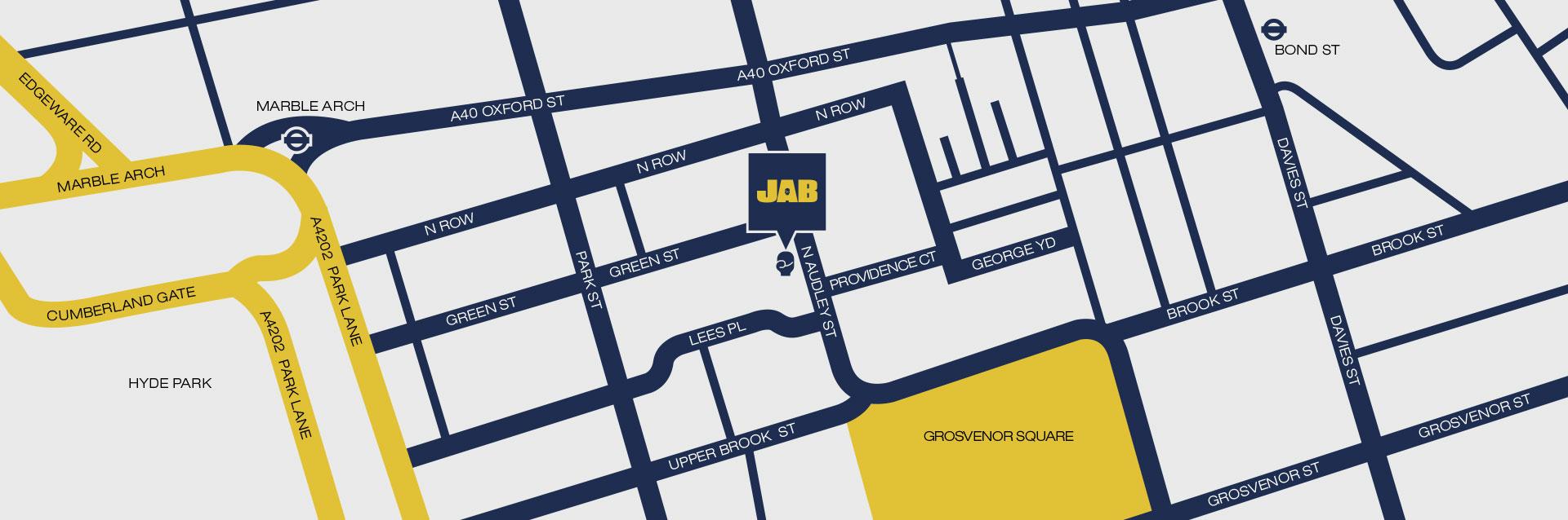 Jab Boxing Mayfair location